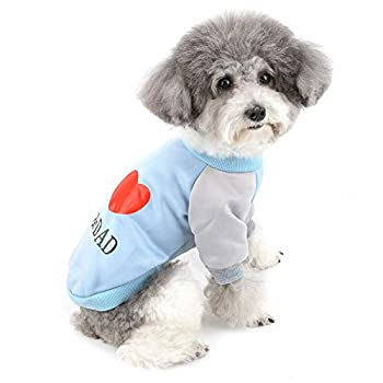ZUNEA Manteaux d'hiver pour Petit Chien Chaud Pull-Overs pour Chat en Coton Vêtements pour Chiot Chihuahua Yorkie Bleu S