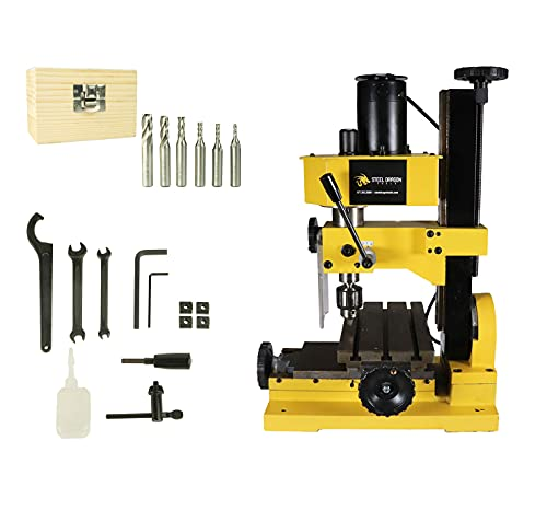 Erie Tools Variable Speed Mini Metal Mill Drilling Machine Press Bench Top 3/8 Drill Capacity with...