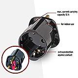 Brennenstuhl Reisestecker / Reiseadapter (Reise-Steckdosenadapter für: England Steckdose und Euro Stecker) schwarz - 3