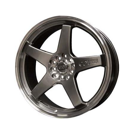 18x7.5 Enkei EV5 Wheels//Rims 5x100//114.3 Matte Bronze w// Machined Lip 446-875-0238ZP