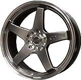 ENKEI - ev5 - 18 Inch Rim x 7.5 - (5x100/5x4.5) Offset (45) Wheel Finish - hyper black with machined lip