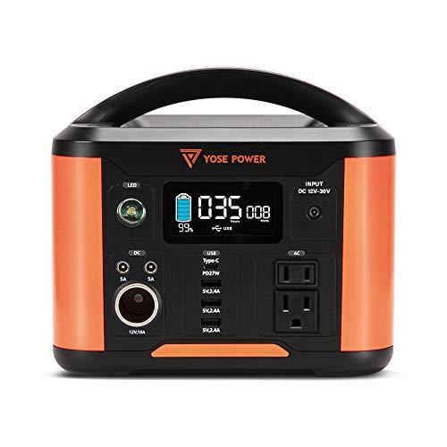 YOSE POWER PEP-S300 ポータブル電源288Wh/80000mAh 非常用 防災停電対策 発電機 正弦波 家庭用蓄電池 液晶モニター PSE認証済み