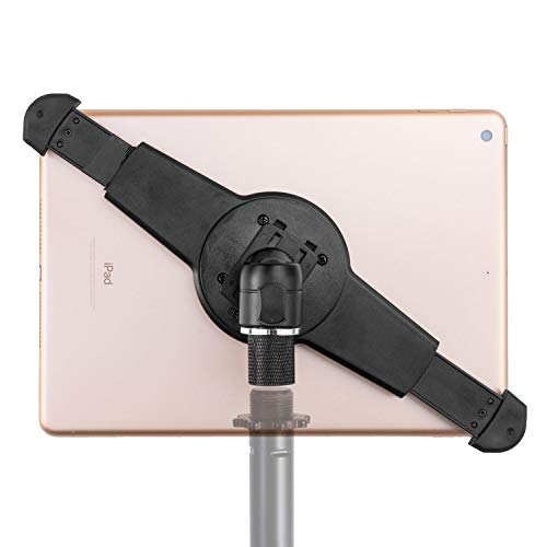 """GRIFITI NOOTLE MUSIC MIC STAND RETROFIT LARGE UNIVERSAL TABLET ADAPTOR 5/8"""" 27 FEMALE TO 1/4"""" 20 MALE MINI BALL HEAD TABLET MOUNT FOR 9.5-14.5 INCH LARGE TO STANDARD TABLETS AND IPADS"""