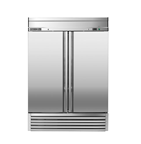 Maxx Cold MXSR-49FD Two Door Reach-In Upright Commercial NSF Refrigerator Cooler - ENERGY STAR
