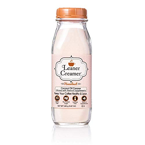 Leaner Creamer- Coffee Creamer Powder: Keto| Non-Dairy| Paleo| Sugar Free- Hazelnut