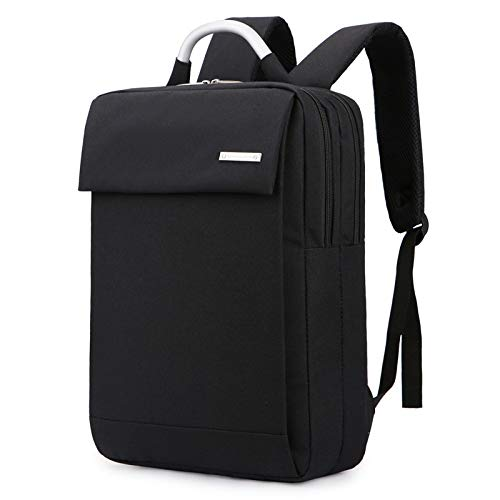 Mochila para hombres y mujeres, mochila de negocios, bolsa de ordenador de gran capacidad, mochila de viaje, Black (Negro) - cdvf-2333