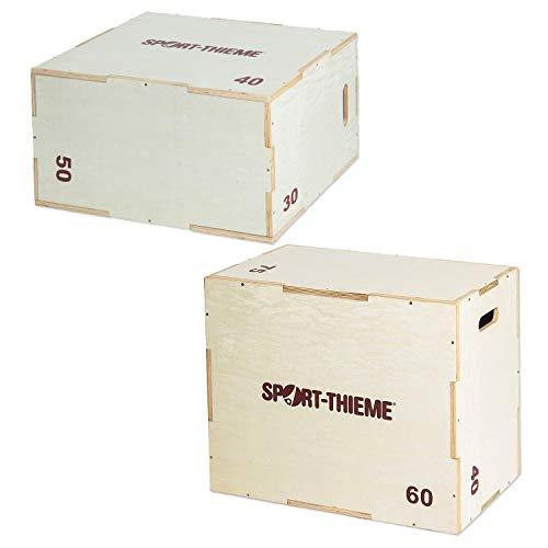 Sport-Thieme Plyo Box Holz   Jump Box   6 in 1 Sprungbox   3 versch. Höhen   Plyometrisches Training   Sprungkrafttraining   Beweglichkeits/Schnelligkeitstrainer   Markenqualität