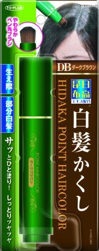 TO-PLAN(トプラン)日高昆布部分白髪かくしダークブラウン筆ペンタイプ