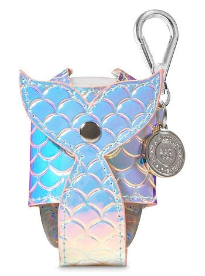 【Bath&Body Works/バス&ボディワークス】 抗菌ハンドジェルホルダー 虹色 マーメイドテイル Pocketbac Holder Iridescent Mermaid Tail [並行輸入品]