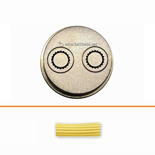 Teigwareneinsatz glatte Maccheroni 13.5 mm für professionelle Nudelmaschine La Fattorina 1,5 kg, kompatibel mit FIMAR MPF 1,5 - Matrize aus Bronze