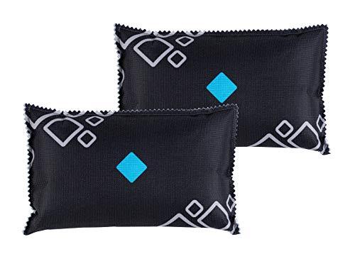 WENKO Auto-Entfeuchter-Kissen mit Sättigungsanzeige bei beschlagenen Autoscheiben 2-er Set à 400g