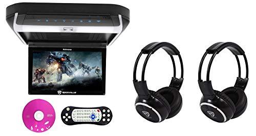 Rockville RVD10HD-BK 10.1' Flip Down Monitor DVD Player w/HDMI,...