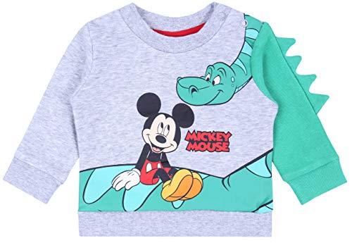Sweat-Shirt Gris-Vert Mickey Mouse Disney 12-18 Mois