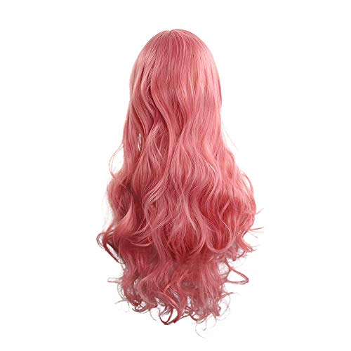 Buy Bargain Inkach Long Curly Cosplay Wigs for Black Women Wavy Full Hair Wig with Side Bangs Hairpi...