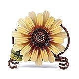 Soporte para pañuelos, 12x10x4.5cm Vintage Hierro Arte Forma de Flor Soporte para pañuelos Dispensador Servilletero de Mesa Estante de Papel