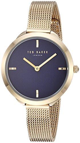 Ted Baker London Damen analog Quarz Uhr mit Edelstahl Armband TE15198018