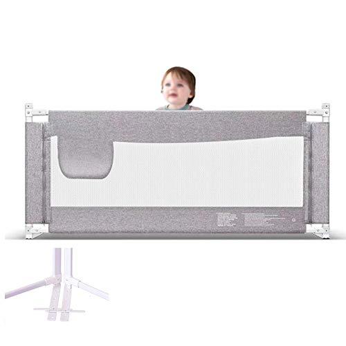 FFYN Protección de barandilla de Cama Alta Rejilla de Cama de bebé anticaída de Seguridad Extra Grande Ajustable General, Gris (Tamaño: 2 m)