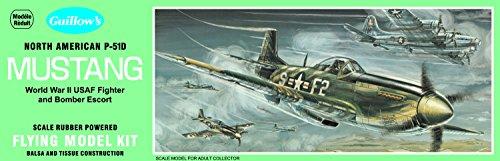 GUILLOW's P-51D Mustang 905 Powered Balsa Flying Model Kit