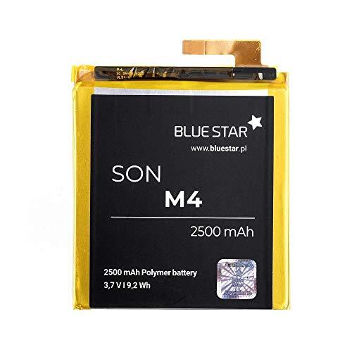 Blue Star Premium - Li-Ion Lithium Akku 2500 mAh Kapazität Schnellladung 2.0 Kompatibel mit dem Sony Xperia M4 Aqua
