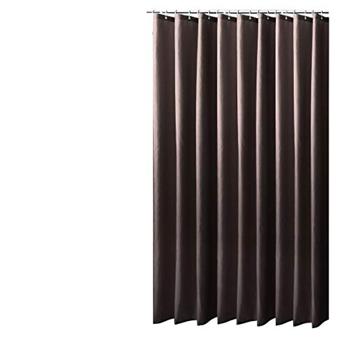 Sfoothome Polyester-Stoffvorhang für die Dusche, waschbarer Duschvorhang für Badezimmer mit Anti-Rost-Tüllen, Kunststoffringen & beschwertem Saum, Polyester, schokoladenbraun, 180 x 200cm