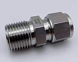 Stainless Steel 316L Compression Ferrule Fittings,Two Ferrule Tube Fittings,Connector,Adapter,3/8