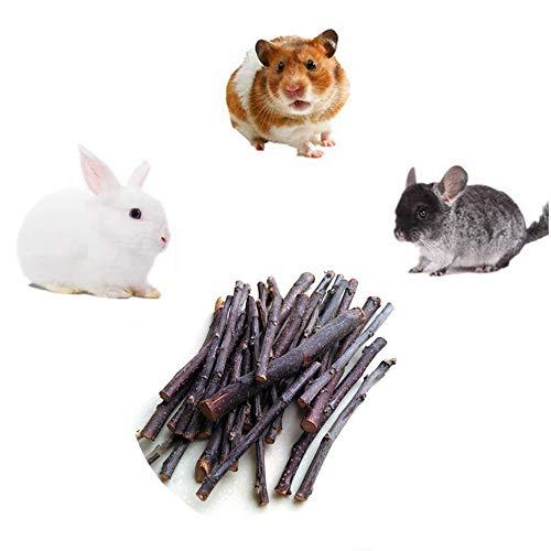 HAORI Natuurlijke bijtringen van appel Kleine dieren Molaar Houtsnoepjes Speelgoed Chinchilla Cavia Hamster Konijn Gerbil Papegaai Konijntje en kleine dieren Kauwstok Speelgoed Snoepjes
