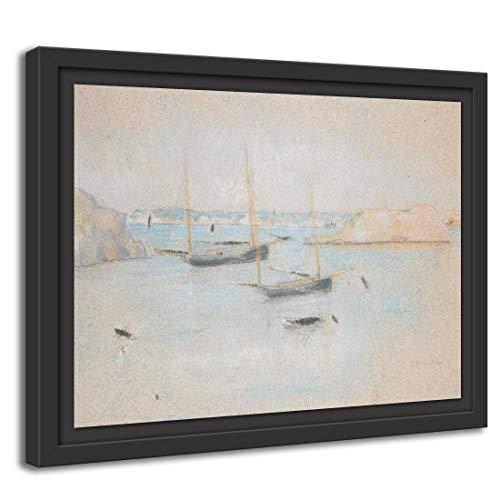 Printed Paintings Schattenfugenrahmen (100x70cm): Julian Alden Weir - Boote