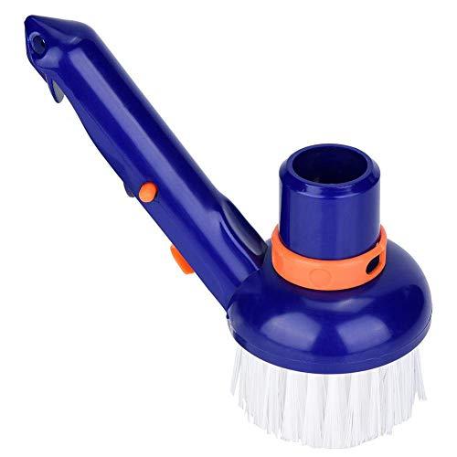 Kuinayouyi Cepillo de limpieza de piscina para escalones y esquinas, cepillo de limpieza para balnearios, hidromasajes con cerdas finas