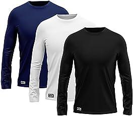 Kit 3 Camisetas Manga Longa Lisa Proteção Solar UV +50 MXC BRASIL
