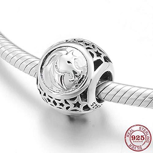 MZBUFZZ Zilveren kralen 925 Sterling Zilver Ster Teken Zodiac Ram Kralen Constellaties Bedels Sieraden Maken Fit Originele Bedels Armbanden