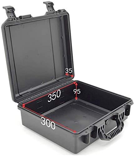 GOVD Vaciar la Caja de Herramientas Duro, llevando Caja de plástico con Cierre Transporte Box Negro Grande Impermeable del Equipo Case Duro (Size : 35x30x9.5cm)