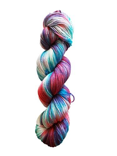 Sockenwolle Superfine handgefärbt -Krokus - 75% Schurwolle / 25% Polyamid - Australische Schurwolle 22 Mikron 100 g ca 400 m