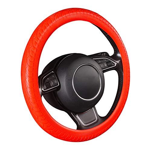 Autopartes El patrón de neumático de la cubierta del volante del automóvil es universal y adecuado para ruedas de dirección de tamaño estándar con un diámetro exterior de 14 1/2 a 15 1/4 pulgadas. dur