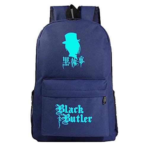 PLMNXHH Mode uns Star Anime Black Butler Galaxy Plaid Kinder Schultasche Jugendliche Student Schultaschen Frauen Männer Rucksack