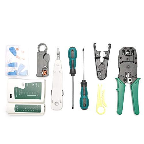 Rj45 Krimptang Kit voor CAT5/CAT6 Lan kabeltester netwerk reparatietool Utp kabeltester tang krimpkrimpstekker klem PC