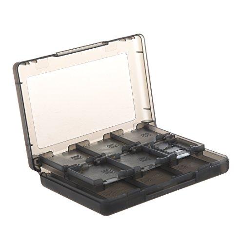 Katigan 24 en 1 Caja de Tarjeta de Juego Compatible con 3DS, Humo