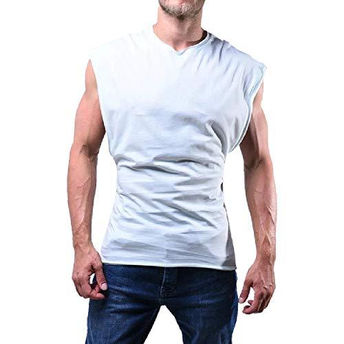 Los hombres Tank Tops sin mangas musculares Fitness Camisas Gimnasios Entrenamiento Bodybuilding Chaleco Undershirt Sólido Deportes