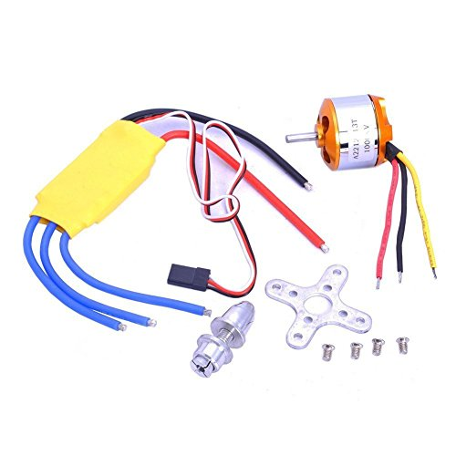 Xiangtat A2212 1000kv Outrunner Brushless Motor + 30a ESC Electric Speed Controller Set Rc Aircraft Plane Multi-Copter Quadcopter