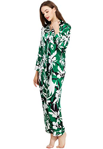Dames Zijde Satijn pyjama Set Slaapmode Loungewear XS ~ 3XL Plus
