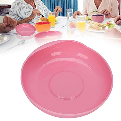 Platte mit Saugnapf, Altenpflege Anti-Spill-Platte mit deaktiviertem Saugnapfboden Rutschfeste Geschirrsilikonschale mit Saugnapf für ältere und behinderte Menschen