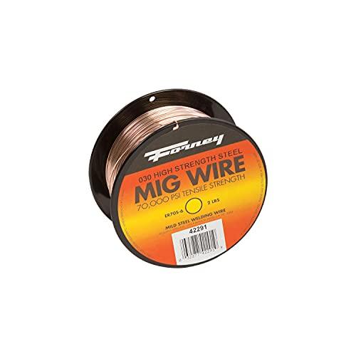 Forney ER70S-6 0.03 in. Mild Steel MIG Welding Wire 70000 psi 2 lb.