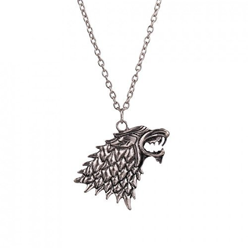 Collar metalupo la casata Stark – Game Of Thrones – Trono di Spade – Jon Snow High Quality