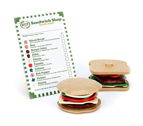 Green Toys - 66034 - Jeu D'imitation - Cuisine - Playset Sandwich-Shop