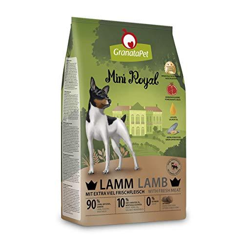 GranataPet Mini Royal Lamm, Trockenfutter für Hunde, Hundefutter ohne Getreide & ohne Zuckerzusatz, Alleinfuttermittel für ausgewachsene Hunde, 1 kg