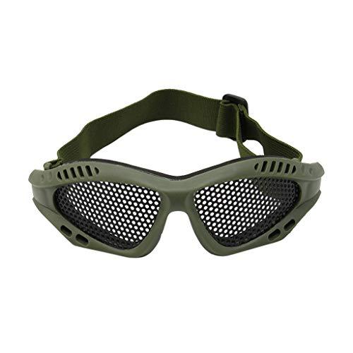 ZOOMY Motocicleta táctica Airsoft Protección para los Ojos Gafas antivaho Gafas de Metal - Verde Militar