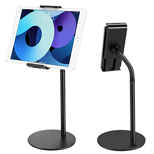 """Tablet Stand Phone Holder, JOYWA 360 Degree Rotating Adjustable Desktop Tablet Mount Compatible with iPad /iPhone/Nintendo Switch/Samsung Galaxy Tabs/Kindle /eBook Reader and More 4.6""""-10.5 inch"""
