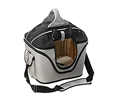 One for Pets Deluxe Cozy Dog Cat Carrier, Large, Tan