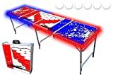 PartyPongTables.com 8-Foot Beer Pong Table w/ LED Lights - Beer Pong Edition