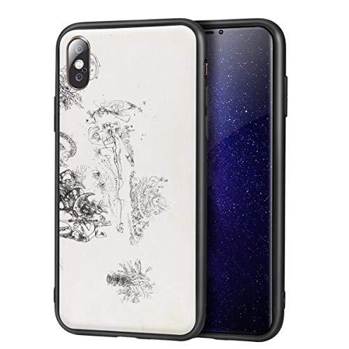 Jackson Pollock para iPhone X/iPhone XS Fine Art Estuche para teléfono móvil/Estuche para teléfono móvil Art/Impresión de reproducción Giclee UV en la Cubierta del teléfono móvil (Sin título 5)