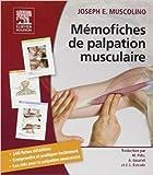 MEMOFICHES PALPATION MUSCULAIRE de Joseph Muscolino ,Michel Pillu (Traduction),Annie Gouriet (Traduction) ( 16 mai 2012 ) - Elsevier Masson; Édition 1re (16 mai 2012) - 16/05/2012